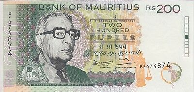 Mauritius Banknote P45 200 Rupees 1998, Uncirculated