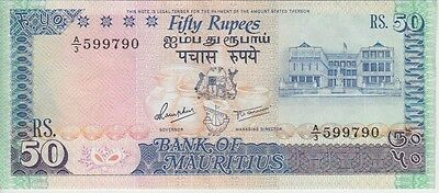 MAURITIUS BANKNOTE  P37b-9790  50 RUPEES 1986,  VERY FINE-EXTREMELY FINE
