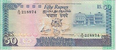 MAURITIUS BANKNOTE P37b 50 RUPEES, EXTREMELY FINE