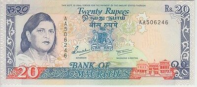 Mauritius Banknote P36-6246 20 Rupees Uncirculated
