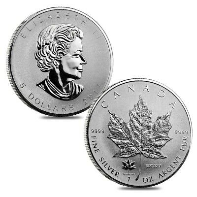 Lot of 2 - 2017 1 oz Silver Canadian Maple Leaf 150th Anniversary Privy $5 Coin