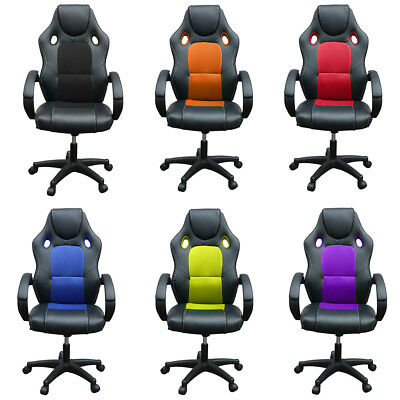 Alondy High Back Lluxury Office Executive Chair Racing Gaming Sport Bucket Seat