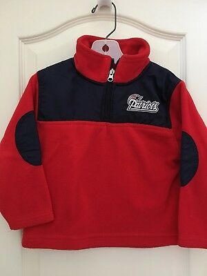 New England Patriots red pull over zip fleece toddler size 4T