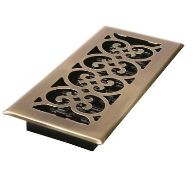 """8 QTY Decor Grates 4"""" x 10"""" Steel Floor Register in Antique Brass SPH410-A, Vent"""