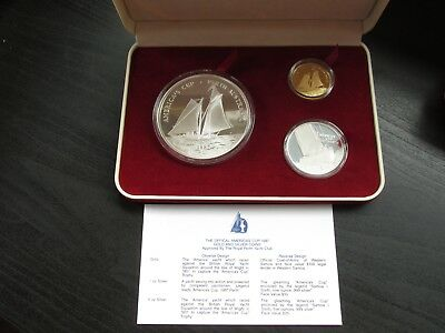 "1987 America's Cup Gold & Silver ""Special Coin Issue"" Set"