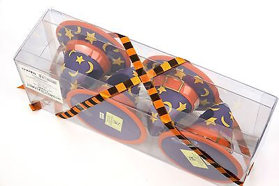 Mary Engelbreit Welcome to Frightville Witch Hat Halloween 4 Napkin Rings 112295