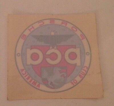 "Porsche PCA Car Club of America Window Sticker Decal Round 2"" Diameter"