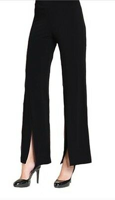 Clara Sun Woo Black Pull On Pant With Side Slits NWT XL