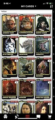 Topps Star Wars Card Trader You Pick 8 CARDS For 1 BUCK LIQUIDATION!! Digital