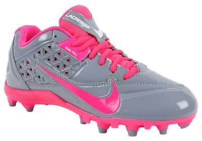 Nike Hot Pink & Gray Lacrosse Cleats Women's Shoes No Box