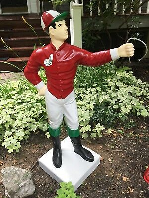 """Custom LAWN JOCKEY 44"""" Concrete Statue ( Possible Delivery... ASK )Horse, Yard"""