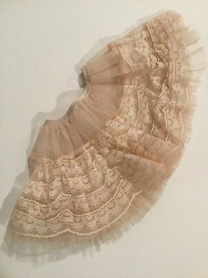"1950s Madame Alexander 20"" Cissy doll Pale Pink Lace and Ruffled Tulle Slip"