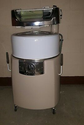 Vintage Kenmore wringer washer Visi-matic tan, chrome and white 2 speed