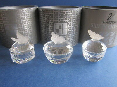 Swarovski (set of 3) butterfly boxes.