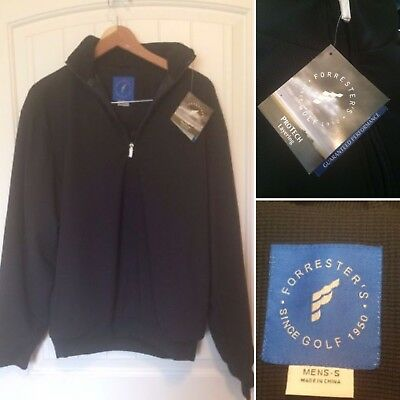 Forrester's Golf Protech Layering Mens Jacket SIZE SMALL NWT Dobby Zipneck black