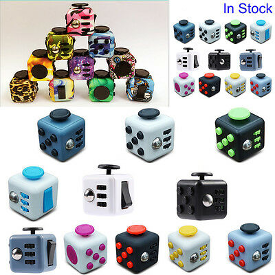 Newest Fidget Cube Xmas Children Toy Adults Fun Stress Relief Cubes Toys UK Ship