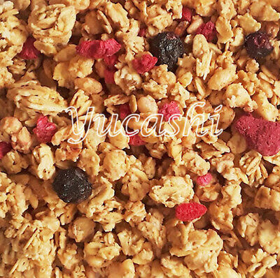 GRANOLA Blueberry Raspberry Pumpkin Flax Apple Cinnamon Raisin Vanilla Bulk