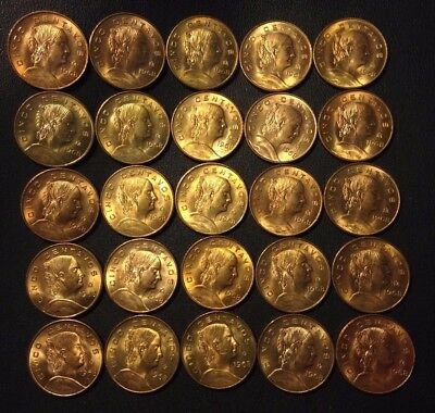 Old Mexico Coin Lot - 5 CENTAVOS -1968- 25 UNCIRCULATED COINS FROM MINT BAG- N15
