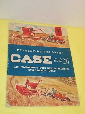 Vintage 1959 J.I. Case Canada Full Line Full color Farm Catalog - L@@K