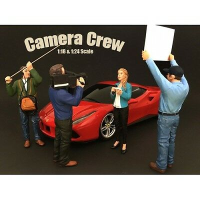 1/18 scale - Camera Crew - Set of 4 -  AMERICAN DIORAMA - figure/figurine
