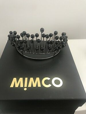 Mimco Galleria Crown Fascinator Black And Silver