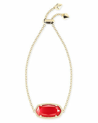Kendra Scott Daisy Chain Bracelet in Red and Gold Plated