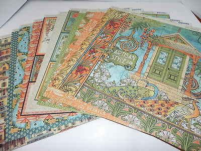 LOT GRAPHIC 45 DOUBLE SIDED DESIGNER PAPER CARDSTOCK 12 x 12 ARTISAN STYLE
