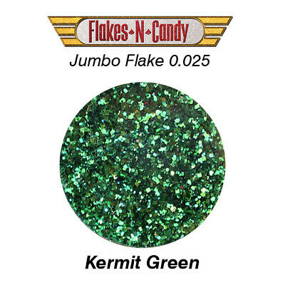 METAL FLAKES GLITTER JUMBO MONSTER (0.025) METAL FLAKE 30g KERMIT GREEN