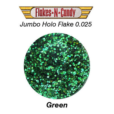 METAL FLAKES GLITTER JUMBO MONSTER (0.025) METAL FLAKE 30g Holographic Green