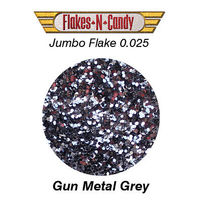 METAL FLAKES GLITTER JUMBO MONSTER (0.025) METAL FLAKE 30g Gun Metal Grey