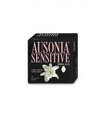 Ausonia Compresas Sensitive Normal Con Alas 14 Uds