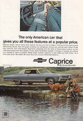 1968 Chevrolet Caprice: American Car That Gives You All These Vintage Print Ad