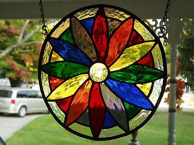 stained glass circle- color wheel