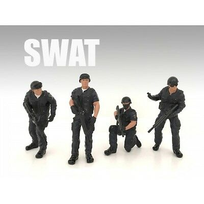 SWAT TEAM - SET OF ALL 4 - 1/24 scale figure - AMERICAN DIORAMA