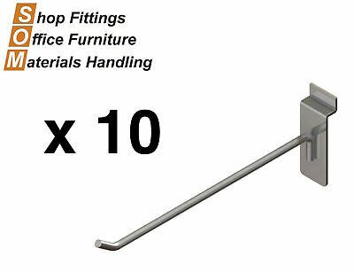 Straight Hooks Chrome For Slat Wall Slat Grid Systems