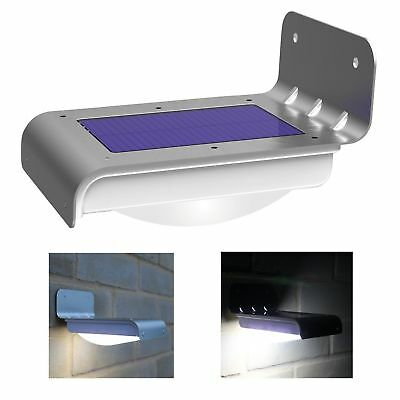 Home Garden Solar Powered LED Wall Light Motion Sensor Security Lamp Outdoor