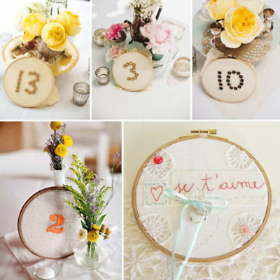 13CM Bamboo Wooden Embroidery Cross Stitch Hoop Ring Frame Craft Sewing Tools