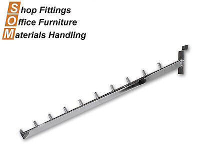9 Pin Slope Arm Chrome For Slat Wall Slat Grid Systems