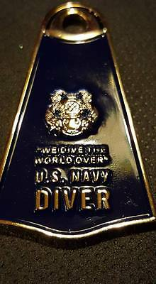 """Navy 2"""" Diver Nd Flipper Coin With Free First Class Shipping"""