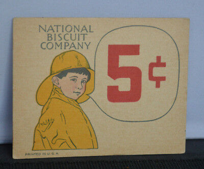 Vintage National Biscuit Company Price Tag