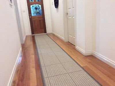 Hallway Runner Hall Runner Rug 4 Metres Long Modern Grey FREE DELIVERY 21354