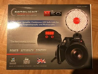 Rotolight NEO On-Camera Continuous LED Light Photo Video - NEW, full warranty