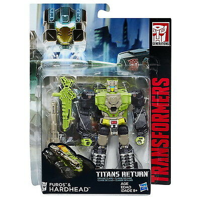 Transformers Generations Titans Return Deluxe Hardhead & Furos Action Figure