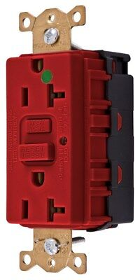Hubbell GFR8300SNAPRNA 20A Red Hg Snap Connect Gfr Outlet Receptacle