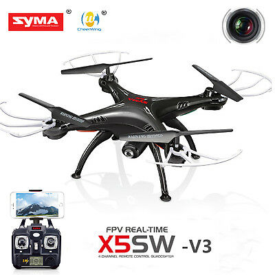 Syma X5SW-V3 2.4Ghz 4CH RC Quadcopter Wifi FPV Drone With HD Camera RTF Black