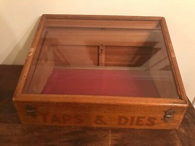 Vintage Wood & Glass Display Case