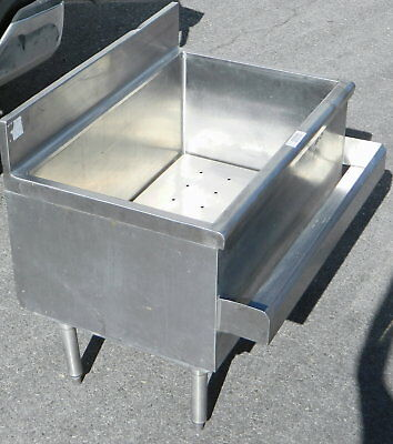 Under bar Stainless Steel Insulated Commercial Ice Well/Bin w/ Bottle holder
