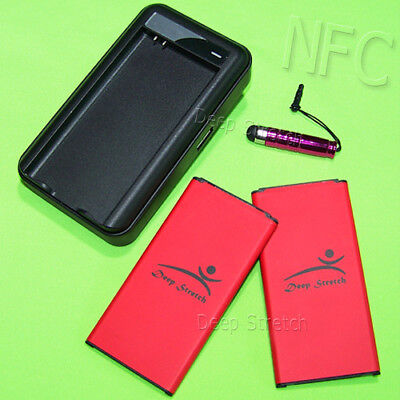 Accessory 2x 5970mAh NFC Battery USB Charger Pen for Samsung Galaxy S5 SM-G900V
