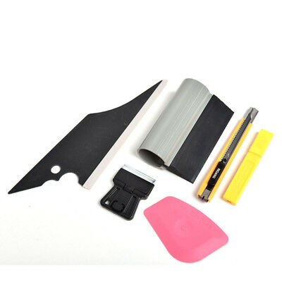 6PCS Car Window Wrapping Tint Vinyl Installing Tool Squeegee Scraper Film Cutter