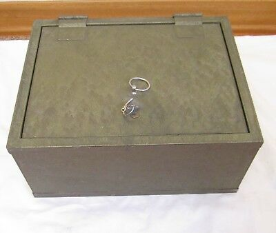 Vintage Victor Fire Insulated Floor Safe With Key Chest